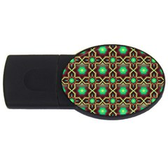 Pattern Background Bright Brown Usb Flash Drive Oval (2 Gb)