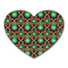 Pattern Background Bright Brown Heart Mousepads