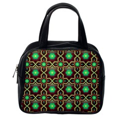 Pattern Background Bright Brown Classic Handbags (one Side)