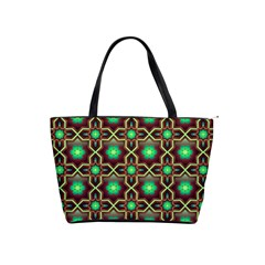 Pattern Background Bright Brown Shoulder Handbags