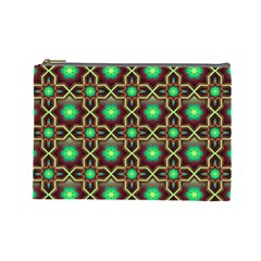 Pattern Background Bright Brown Cosmetic Bag (large)