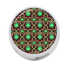 Pattern Background Bright Brown 4 Port Usb Hub (two Sides)