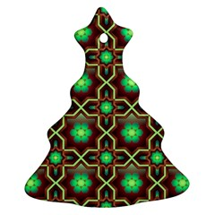 Pattern Background Bright Brown Ornament (christmas Tree)