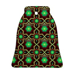 Pattern Background Bright Brown Ornament (bell)