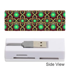 Pattern Background Bright Brown Memory Card Reader (stick)