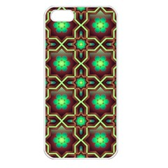 Pattern Background Bright Brown Apple Iphone 5 Seamless Case (white)