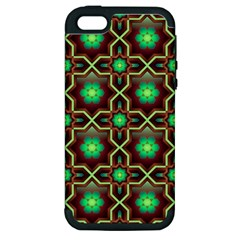Pattern Background Bright Brown Apple Iphone 5 Hardshell Case (pc+silicone)