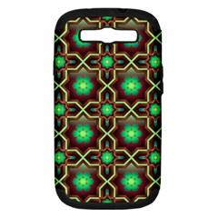 Pattern Background Bright Brown Samsung Galaxy S Iii Hardshell Case (pc+silicone)