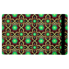 Pattern Background Bright Brown Apple Ipad 2 Flip Case