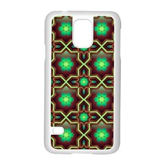 Pattern Background Bright Brown Samsung Galaxy S5 Case (white)