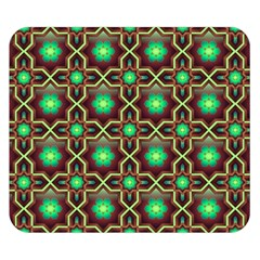 Pattern Background Bright Brown Double Sided Flano Blanket (small)