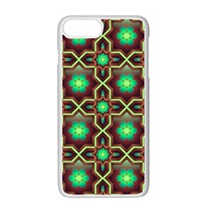 Pattern Background Bright Brown Apple Iphone 7 Plus Seamless Case (white)