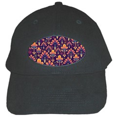Abstract Background Floral Pattern Black Cap