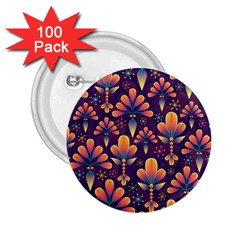 Abstract Background Floral Pattern 2 25  Buttons (100 Pack)