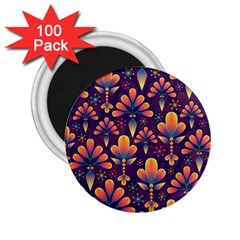 Abstract Background Floral Pattern 2 25  Magnets (100 Pack)