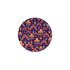 Abstract Background Floral Pattern Golf Ball Marker (4 Pack)