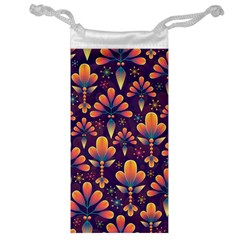 Abstract Background Floral Pattern Jewelry Bag
