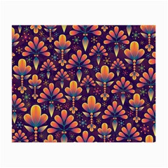 Abstract Background Floral Pattern Small Glasses Cloth (2 Side)