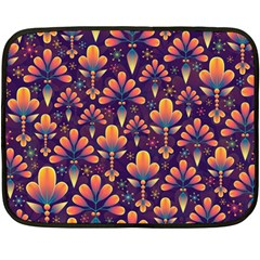 Abstract Background Floral Pattern Double Sided Fleece Blanket (mini)