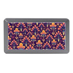 Abstract Background Floral Pattern Memory Card Reader (mini)