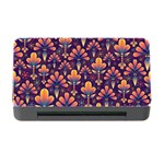 Abstract Background Floral Pattern Memory Card Reader with CF Front