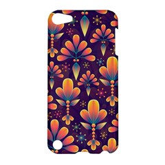 Abstract Background Floral Pattern Apple Ipod Touch 5 Hardshell Case