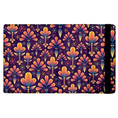 Abstract Background Floral Pattern Apple Ipad 3/4 Flip Case
