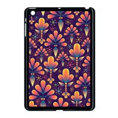 Abstract Background Floral Pattern Apple Ipad Mini Case (black)