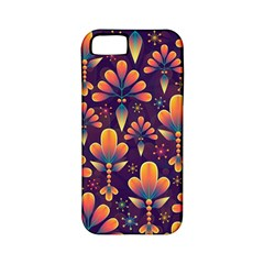 Abstract Background Floral Pattern Apple Iphone 5 Classic Hardshell Case (pc+silicone)