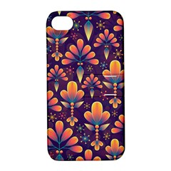Abstract Background Floral Pattern Apple Iphone 4/4s Hardshell Case With Stand