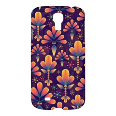 Abstract Background Floral Pattern Samsung Galaxy S4 I9500/i9505 Hardshell Case
