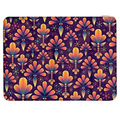 Abstract Background Floral Pattern Samsung Galaxy Tab 7  P1000 Flip Case