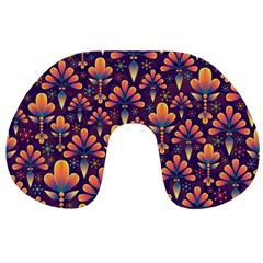 Abstract Background Floral Pattern Travel Neck Pillows