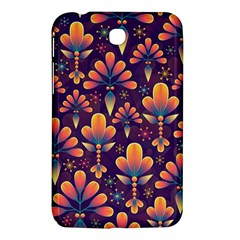 Abstract Background Floral Pattern Samsung Galaxy Tab 3 (7 ) P3200 Hardshell Case