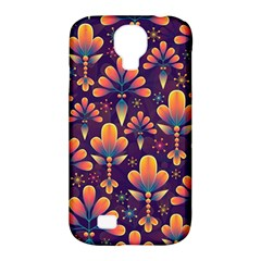 Abstract Background Floral Pattern Samsung Galaxy S4 Classic Hardshell Case (pc+silicone)