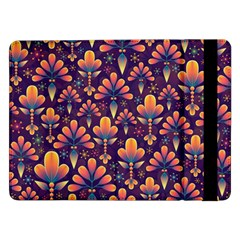 Abstract Background Floral Pattern Samsung Galaxy Tab Pro 12 2  Flip Case