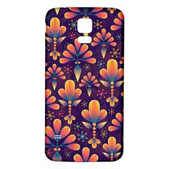 Abstract Background Floral Pattern Samsung Galaxy S5 Back Case (white)