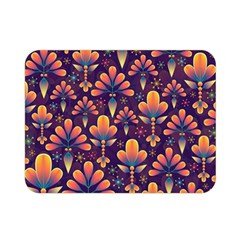 Abstract Background Floral Pattern Double Sided Flano Blanket (mini)