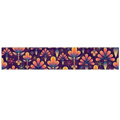 Abstract Background Floral Pattern Large Flano Scarf