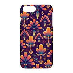 Abstract Background Floral Pattern Apple Iphone 8 Plus Hardshell Case
