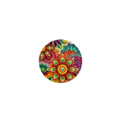 Colorful Abstract Background Colorful 1  Mini Magnets