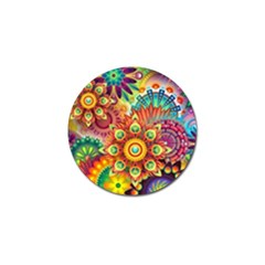 Colorful Abstract Background Colorful Golf Ball Marker (10 Pack)