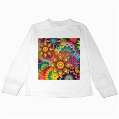 Colorful Abstract Background Colorful Kids Long Sleeve T Shirts