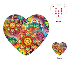 Colorful Abstract Background Colorful Playing Cards (heart)