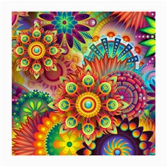 Colorful Abstract Background Colorful Medium Glasses Cloth (2 Side)