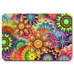 Colorful Abstract Background Colorful Large Doormat