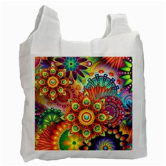 Colorful Abstract Background Colorful Recycle Bag (one Side)