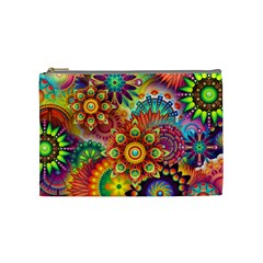 Colorful Abstract Background Colorful Cosmetic Bag (medium)