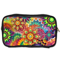 Colorful Abstract Background Colorful Toiletries Bags 2 Side