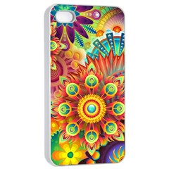 Colorful Abstract Background Colorful Apple Iphone 4/4s Seamless Case (white)